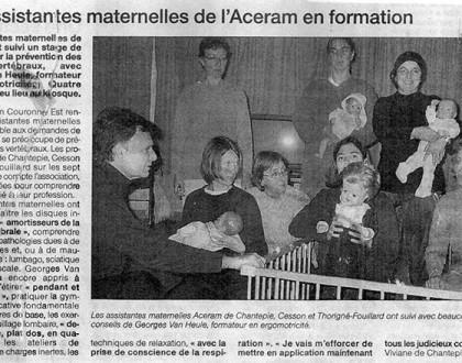 Activité assistante maternelle formation chantepie